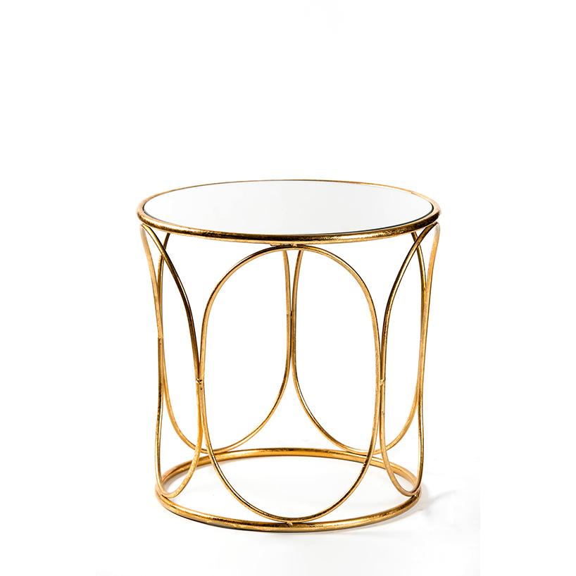 Cashmere mesa dorada oval peque a - Mesas auxiliares pequenas ...