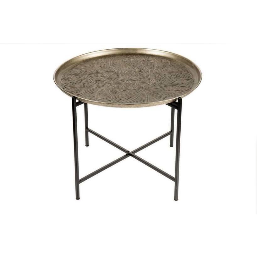 Cashmere mesa marroqu plata for Mobiliario marroqui
